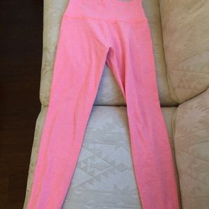 Pretty pink yoga pants!